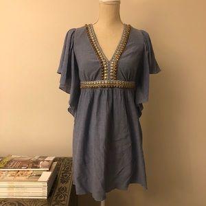 Tibi Blue Embellished Dress